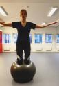 Träning på Knäböj på pilatesboll 2017-01-21